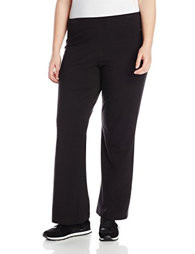 Spalding Women's Plus-Size Bootleg Pant, Black, 3X (Danskin Plus Size Yoga Pants compare prices)