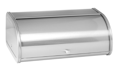Anchor Hocking 98949 Fingerprint Free Brushed Steel Bread Box, Stainless ()