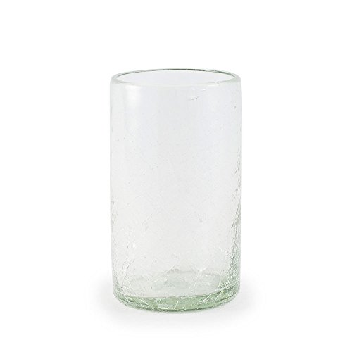 Vivaterra Maya Recycled Glass Vase - 4 Dia. x 7 H - Clear