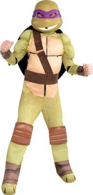 Amscan Teenage Mutant Ninja Turtles Donatello Muscle Halloween Costume for Boys, Small, with Included Accessories -