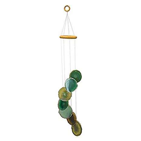 Amazon.com : Agate Wind Chime - Seven Agate slabs (Green) : Garden & Outdoor