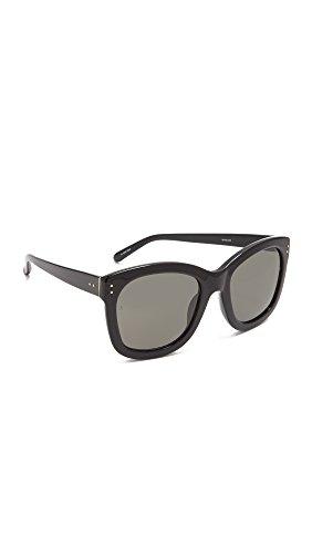 Linda Farrow Luxe Women's Square Sunglasses, Black/Grey, One - Farrow Linda Sunglasses