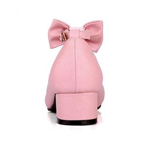 pink Bride JOJONUNU Femmes Escarpins Cheville Confort 0X0gwqP