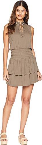 Juicy Couture Women's Knit Crepe Jersey Flirty Dress Shady Palm Medium