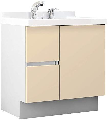 イナックス(INAX) 洗面化粧台 J1プラスシリーズ 幅75cm 片引出タイプ シングルレバーシャワー水栓 J1HT755SYYL2H 一般地用 シカモアベージュ(YL2H)