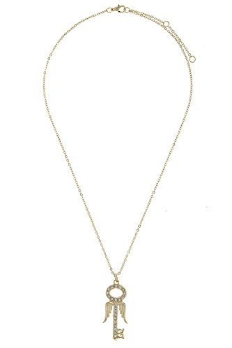 BAUBLES & CO MINI CRYSTAL LINED ANGEL WING KEY NECKLACE (GOLD) (Where To Buy Angel Wings)