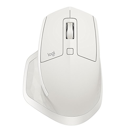 Logitech MX Master 2S Wireless Mouse - Use on Any Surface, Hyper-Fast Scrolling, Ergonomic Shape, Rechargeable, Control up to 3 Apple Mac and Windows Computers (Bluetooth or USB), Light Grey