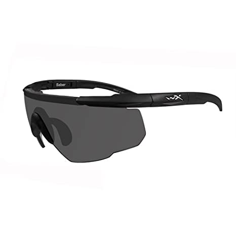 16b1d01601e8 Amazon.com: Wiley X Saber Advanced Smoke Grey Light Rust Lens Matte Black  Frame: Sports & Outdoors