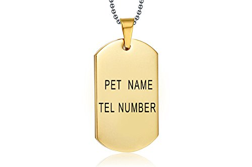 Custom Pet ID Tags Stainless Steel,Personalized Engraving Tag for Dog and Cat,Add Customized Information,Front and Back Engraved