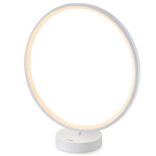 AUKEY Bedside Lamp, Dimmable Nightstand Lamp with Remote Control, 6 Lighting Modes, 4 Lighting Speeds, Color Changing RGB and Lighting Memory Function