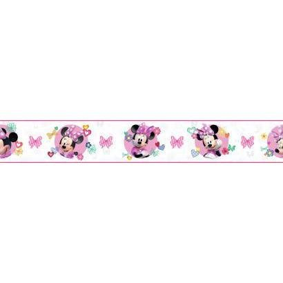 Minnie Wallpapers Mouse (York Wallcoverings DY0172BD Kids III Disney Minnie Mouse Border, White/Off Whites)