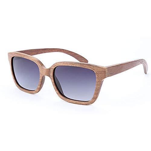 sol de bambú unisex los ojos Gafas polarizadas hechas de de mano de hombres de mujeres gran sol de madera y Eyewear sol para UV de protección los de sol las Adult tamaño a Gafas de gato Gafas de Gafas UAxqpEE