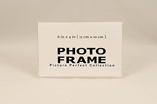 Pack of 6x4 Acrylic Picture Frames, Sign Holders Acrylic Photo frame horizontal (12) (Picture 4x6 Frames Clear)