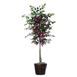 Vickerman 6-Feet Artificial Green and Red Capensia Tree in Decorative Container