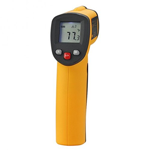 1 X GM550 Non-contact IR Infrared Digital Thermometer - Measurement Range: Between -50 C and 550 C (Between -58 F and 1022 F)-LED Back lLight Design Equipped with Laser Pointer