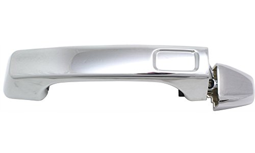 Hummer H3 Base Trim (Evan-Fischer EVA18772041293 Door Handle for 2006 Hummer H3 Base 3.5L Front or Rear Left or Right Side Exterior Plastic Chrome w/o Keyhole Replaces Partslink# FDH010179)