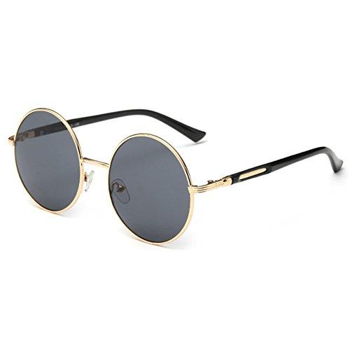 Gafas con de sol juqilu redondas sol mujer para C1 lente vintage retro con Gafas de redonda estilo tAtqdrHwgx