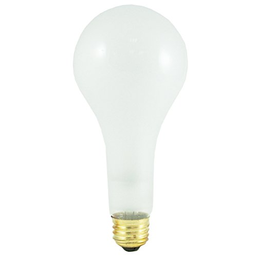 Bulbrite 100300 - 6PK - 300W - PS25 - Medium Base - 130V - 2700K - 6,000Hrs - Frost - Incandescent Light Bulbs
