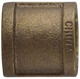 1.86 Length 1-1//4 Size 1.86 Length Midland Metal Midland 44-416 Bronze Fitting Coupling 1-1//4 Size