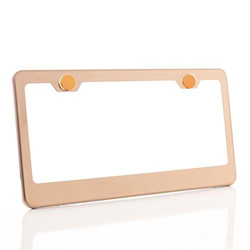 gold color license plate frame - 4