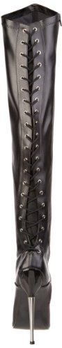 Devious DAGGER-3060 Blk Stretch Pu Size UK 6 EU 39