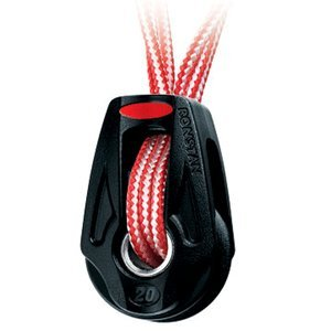 SALE - Ronstan Series 20 Ball Bearing Orbit Block - Single - Dyneema Lashing - Becket (Orbit Block Accessories)