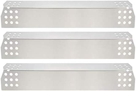 GFTIME (3-pack) Placa de Calor de Acero Inoxidable, Escudo de Calor, Carpa Térmica, Cubierta de Quemador, Barra de Vaporizador y Reemplazo de Barra ...