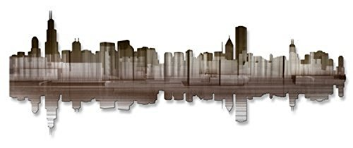 All My Walls Chicago ReflectiIV' Abstract Painting Metal Wall Art Artist Ash Carl Modern Wall Sculpture Contemporary Metal Home décor from All My Walls