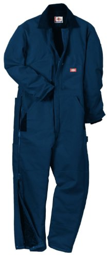 Dickies Men's Premium Insulated Duck Coverall, Dark Navy, Medium/Short