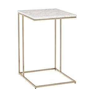 Amazon.com: ZHIRONG mesa auxiliar de mármol para sala de ...