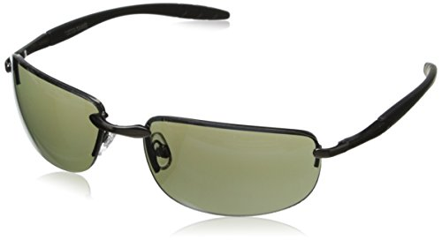Foster Grant Men's Valve Rectangular Sunglasses, Gunmetal, 61 - For Men Grant Foster Sunglasses