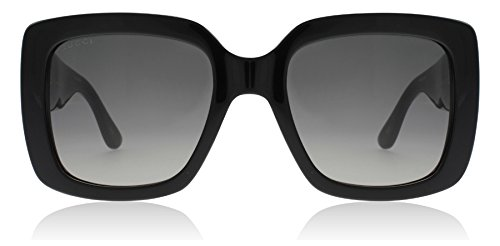 Gucci GG0141S 001 Black GG0141S Square Sunglasses Lens Category 2 Size - Mens Gucci Sunglasses Black
