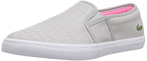 Lacoste Frauen Gazon 118 2 Caw Sneaker Hellgrau / Fluro Pnk
