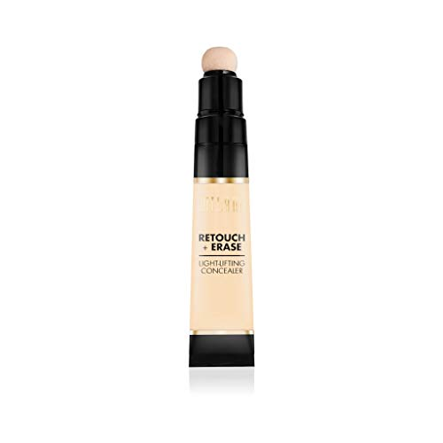 Milani Retouch + Erase Light-Lifting Concealer - Fair (0.24 Ounce) Cruelty-Free Liquid Concealer with Cushion Applicator Tip to Cover Dark Circles, Blemishes & Skin Imperfections