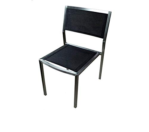 (Аmеricаn Trаding Cоmpаny Patio Outdoor Garden Premium ATC Elegance Elite Side Chair with Brushed Stainless Frame (Pack of 4))