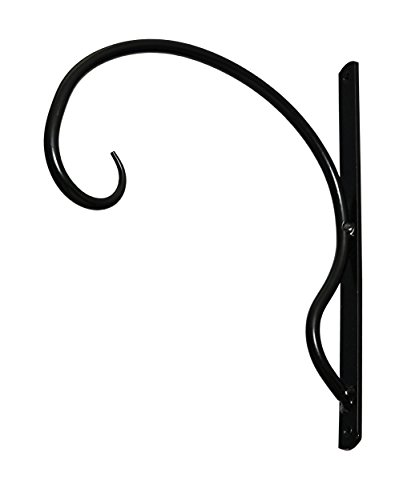 EXCEPTIONALLY STURDY, IRON HANGER FOR HEAVY DUTY DOODADS, Elegant Hook/Bracket for Hanging Wind Chimes, Plants, Wind Spinners, & Bird Feeders, Great for Easy Enhancements to Indoor & Outdoor Décor - Elegant Bracket