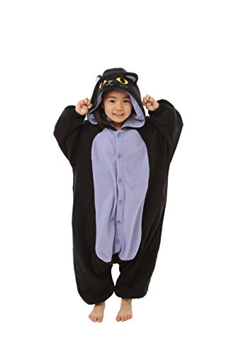 Spooky Black Cat Kids Kigurumi (2-5 (The Second Doctor Costume)