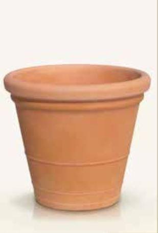Blumenübertopf Pablo aus Kunststoff in Terakotta Optik,sonnen-und regenbeständig für Innen und Außen,Farbe Terakotta, Ø 60cm Höhe 52cm