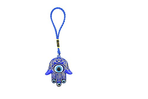 Bravo Team Lucky Blue Evil Eye Hanging Hamsa for Protection and Blessing, Pendant Decoration for Car, Home and Office, Great Gift