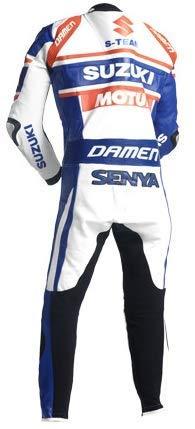 Corso Fashion Suzuki de Piel con protecci/ón CE Traje de Motociclismo para Hombre