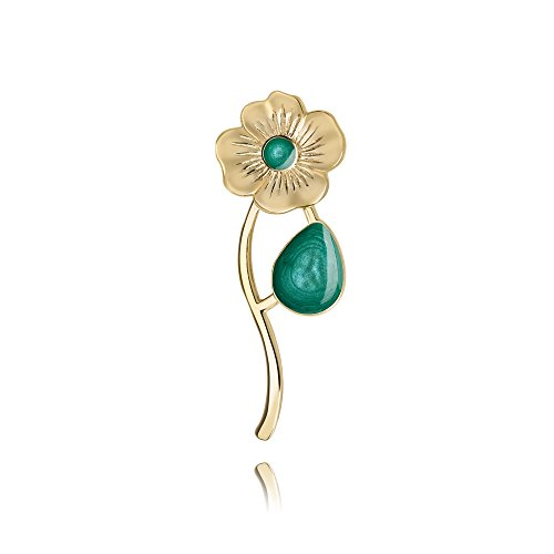 Turquoise Flower Brooch Pin Accessory for Woman in a Gift -
