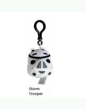 Angry Birds Star Wars Plush Backpack Clip - Storm Trooper (Plush Set Angry Toys Bird)