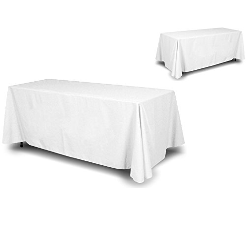 White 8' Table Cover - 1