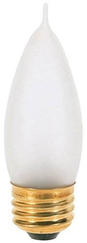 10 Pack Satco S3767 25 Watt Turn Tip Medium Base Frosted Decorative Light Bulbs- 2 per Card (20 Bulbs Total)