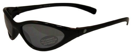 Birdz Eyewear Hen Slim Line Riding Sunglasses (Black Frame/Smoke - Sunglasses Birdz