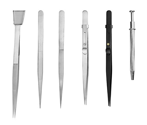 SE TW2-407 6-Piece Diamond Tweezers Set