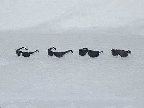 1/6 Scale 4 Styles Plastic Black Glasses Sunglasses F 12