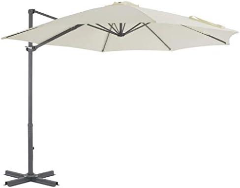 アルミポールサンド付きカンチレバー傘300cmホームガーデン芝生ガーデン屋外生活屋外傘サンシェード