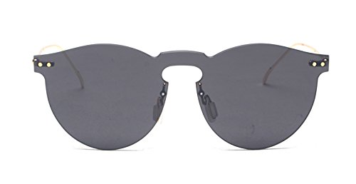 GAMT Vintage Rimless Mirrored Sunglasses Unisex Design Lens Gray Frame - Frames Fashion Spectacle Latest