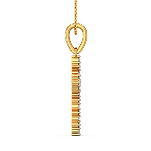 Or jaune 18 K 0.41 carat au total Round-cut-diamond (IJ | SI) Pendentif